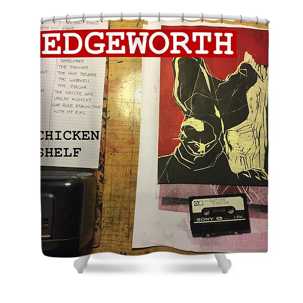 Edgeworth Chicken Shelf Cover Shower Curtain