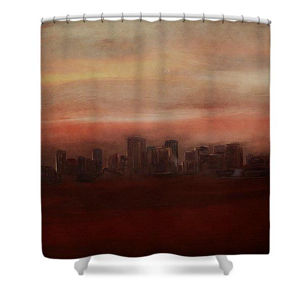 Edmonton At Sunset Shower Curtain