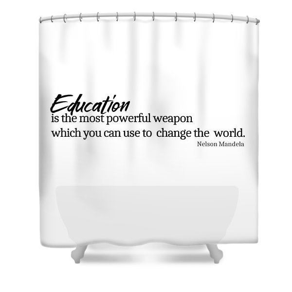 Education #minimalism Shower Curtain