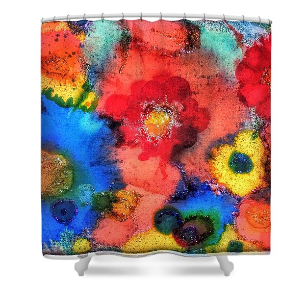 Efflorescence Shower Curtain