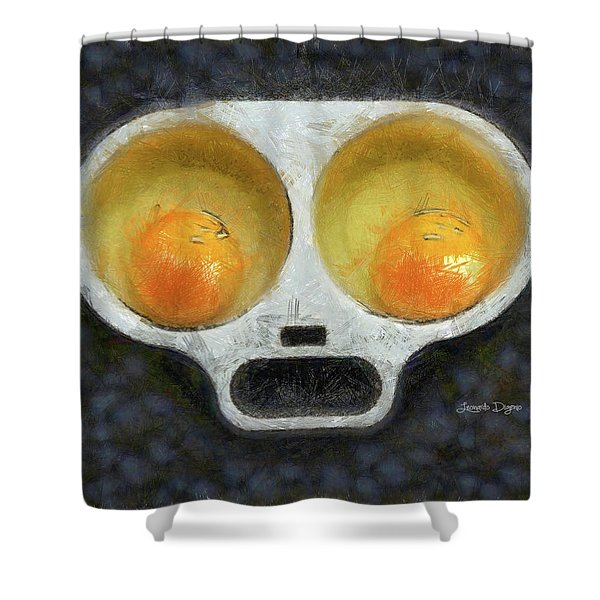 Egg Face Shower Curtain