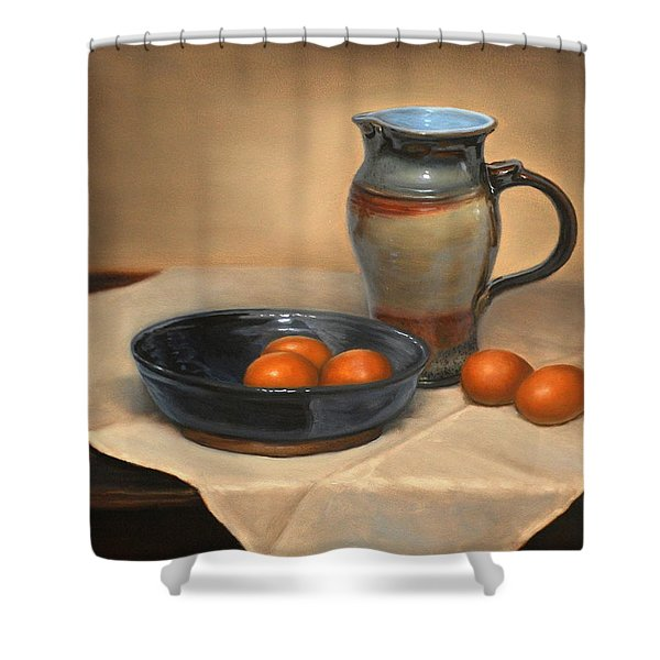 Eggs And Pitcher Shower Curtain