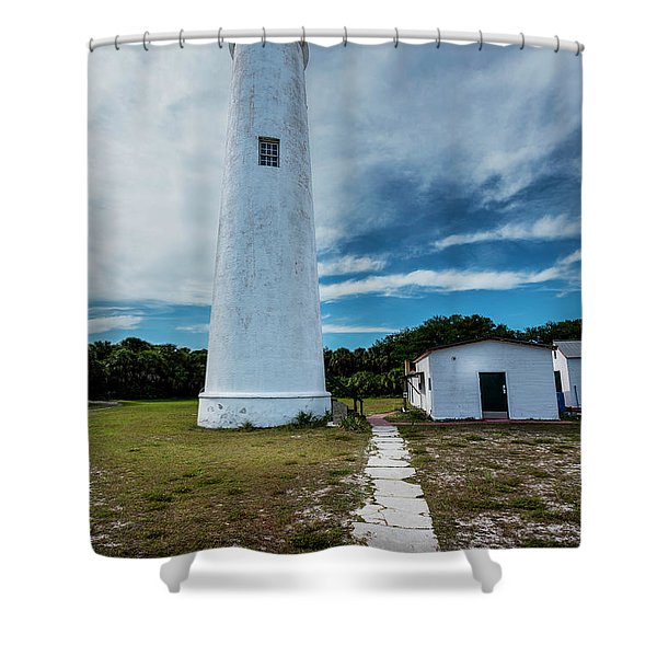 Egmont Lighthouse Shower Curtain