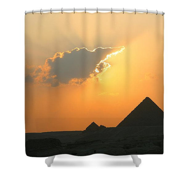 Egpytian Sunset Behind Cloud Shower Curtain