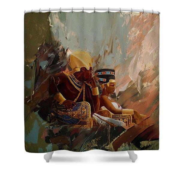 Egyptian Culture 44b Shower Curtain