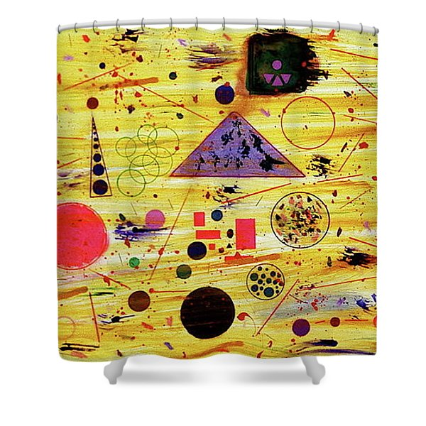 Shower Curtain featuring the painting Egyptian Sunrise by Michael Lucarelli