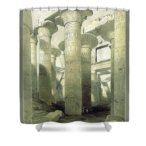 Shower Curtain featuring the photograph Egyptian Temple No 3 by Robert G Kernodle