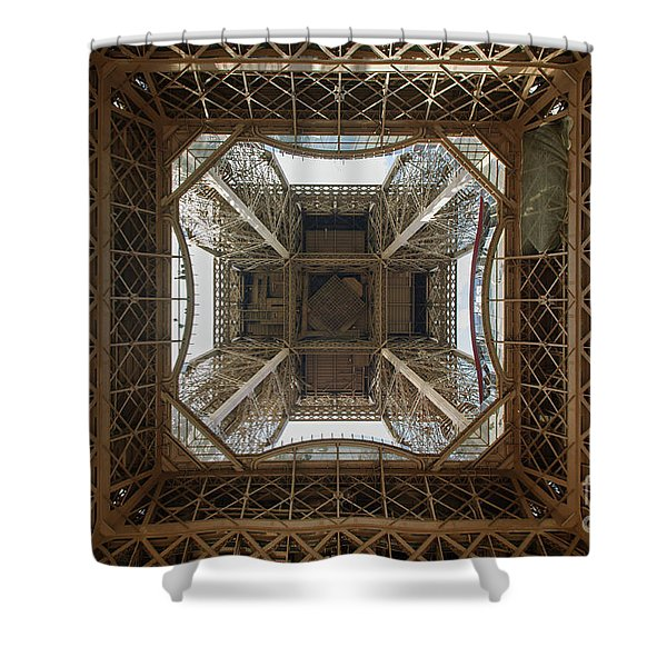 Eiffel Tower Abstract Shower Curtain