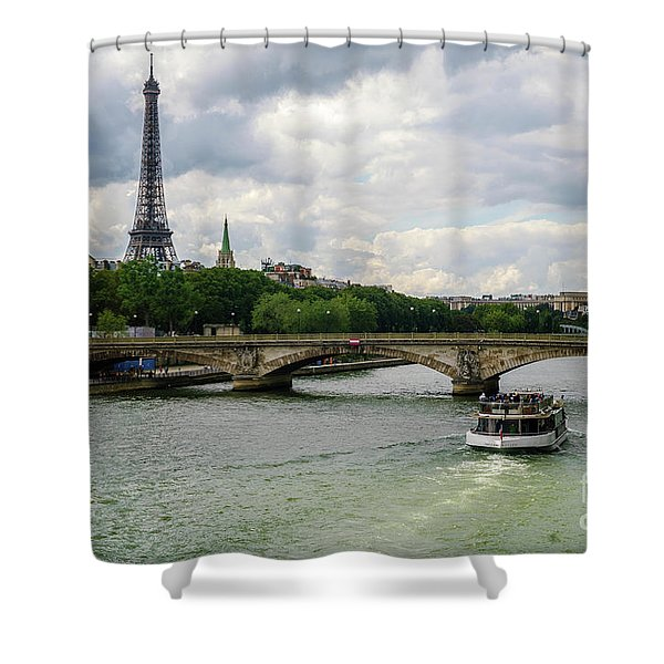Eiffel Tower And The River Seine Shower Curtain