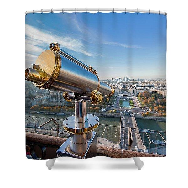 Eiffel Tower Telescope 2 Shower Curtain