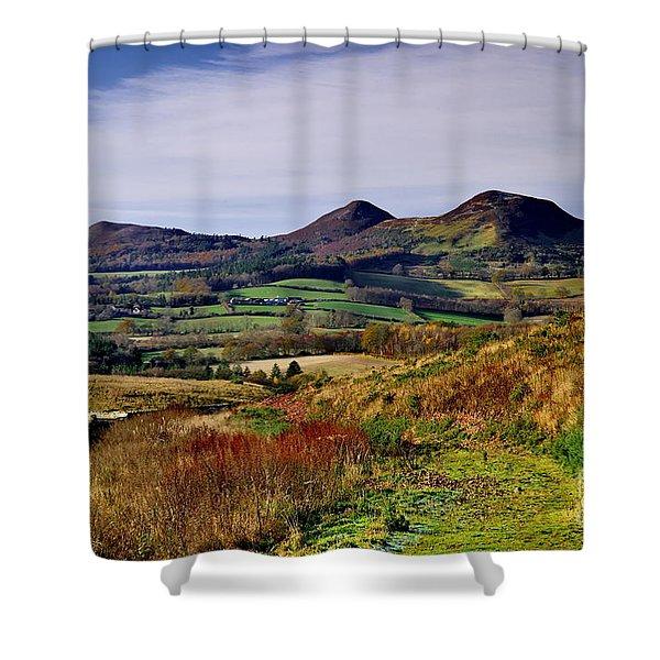 Eildon Hills Borders Scotland Shower Curtain