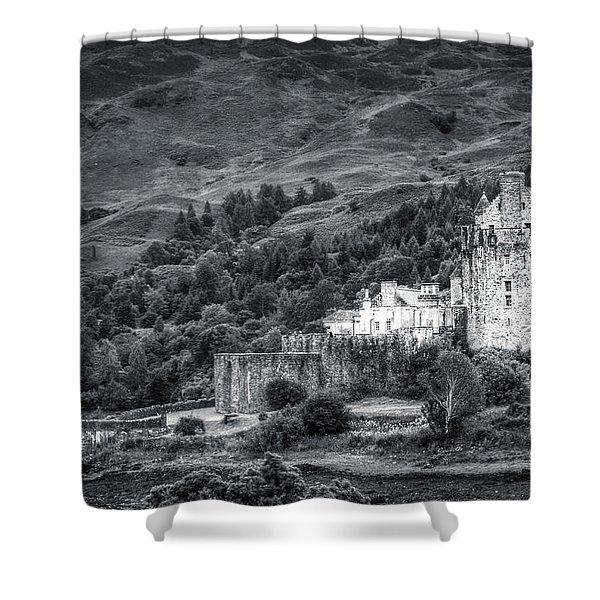 Eilean Donan Castle, Dornie, Kyle Of Lochalsh, Isle Of Skye, Scotland, Uk Shower Curtain