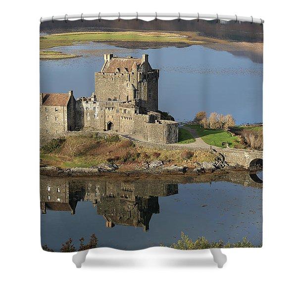 Eilean Donan Castle Reflections Shower Curtain