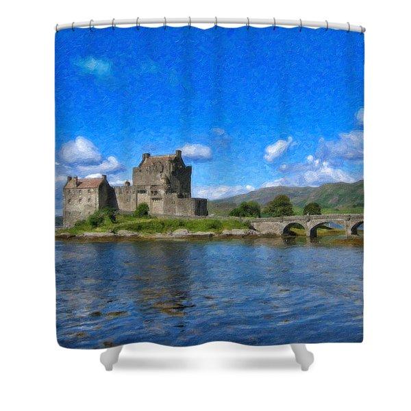 Eilean Donan Castle - Sct671252 Shower Curtain