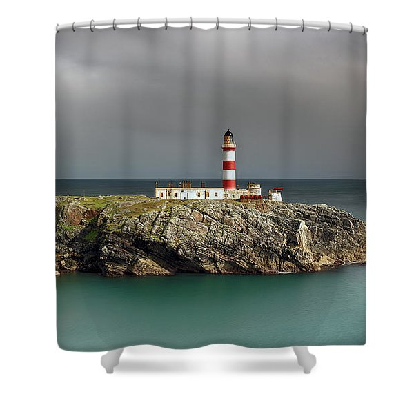 Eilean Glas Lighthouse Shower Curtain
