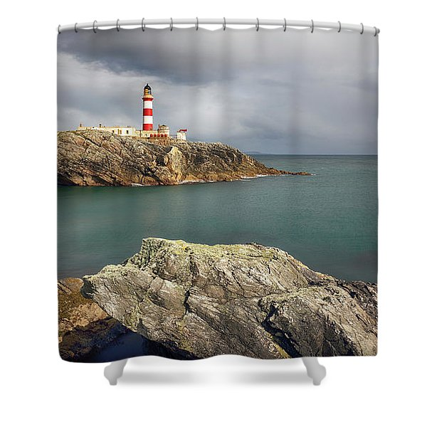 Eilean Glas Lighthouse, Western Isles. Shower Curtain