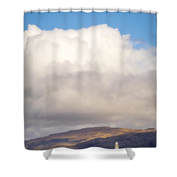 Eilean Musdile Lighthouse On Lismore Shower Curtain