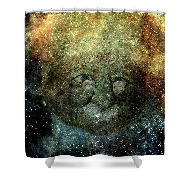 Einsteins Cosmic Travels Shower Curtain