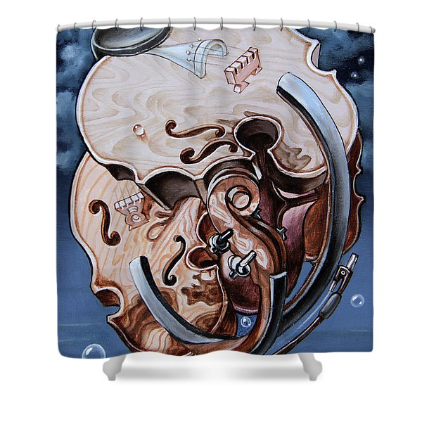 Einstein's Violin. Op.2763 Shower Curtain
