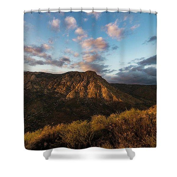 El Cajon Mountain Last Light Shower Curtain
