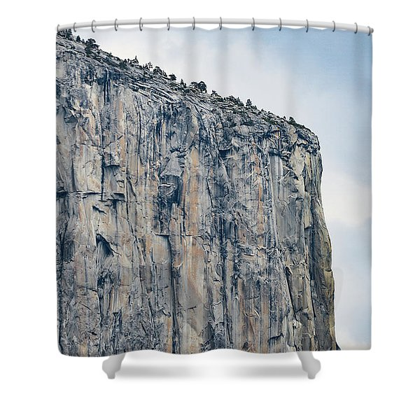 El Capitan Up Close And Personal From Tunnel View Yosemite Np Shower Curtain