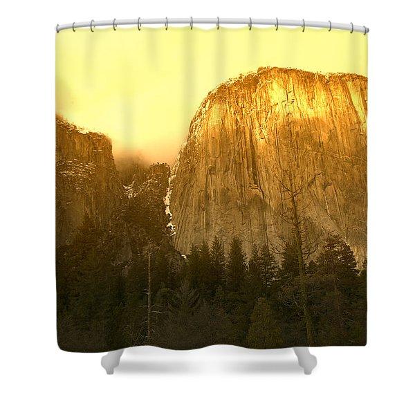 El Capitan Yosemite Valley Shower Curtain