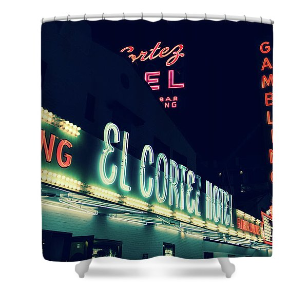 El Cortez Hotel At Night Shower Curtain