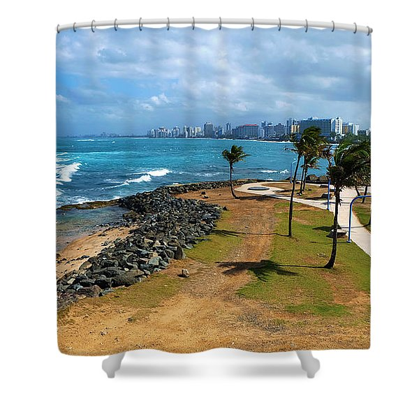El Escambron Shower Curtain