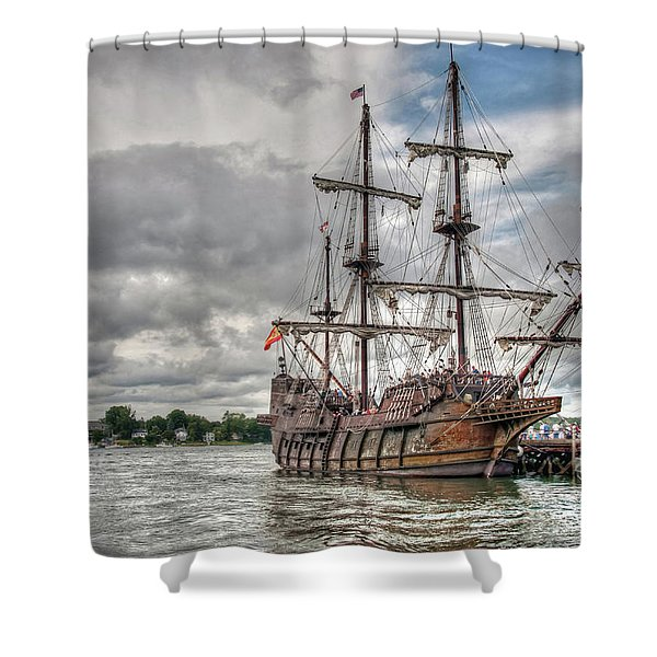 El Galeon Andalucia In Portsmouth Shower Curtain