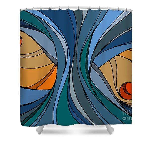 el MariAbelon blue Shower Curtain