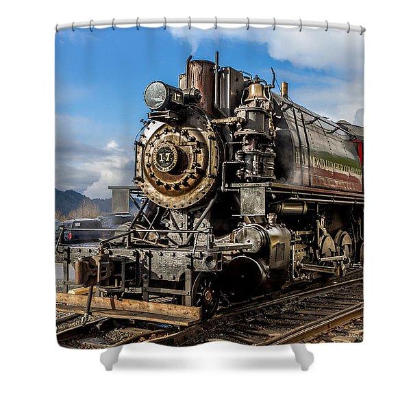Elbe Steam Engine 17 - 2 Shower Curtain