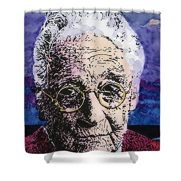 Elderly Woman Shower Curtain