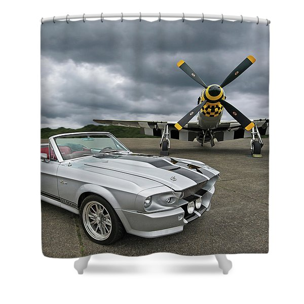 Eleanor Mustang With P51 Shower Curtain