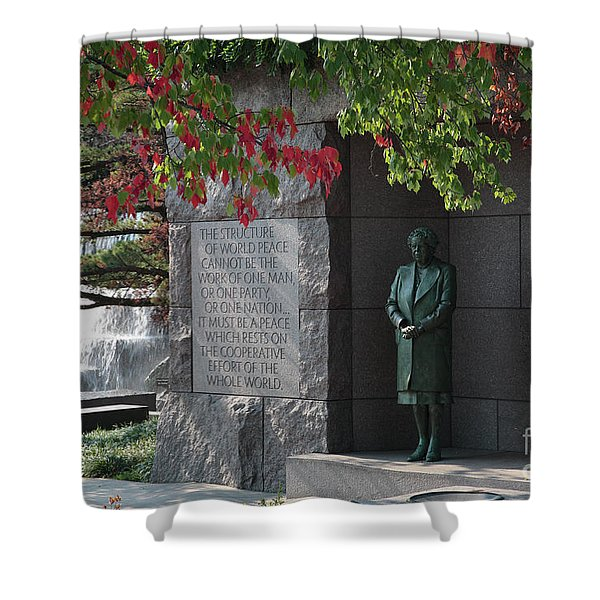 Eleanor's Alcove At The Fdr Memorial In Washington Dc Shower Curtain