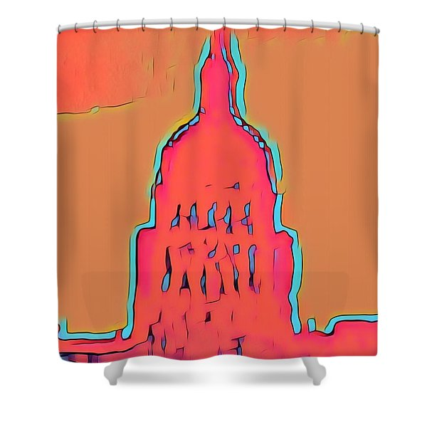 Electric Austin Shower Curtain