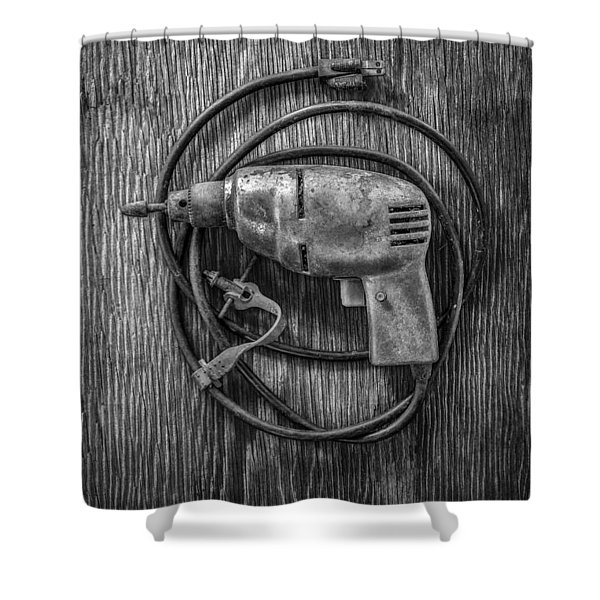 Electric Drill Motor Shower Curtain