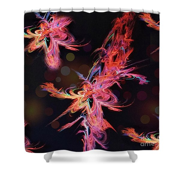 Electric Flowers Shower Curtain