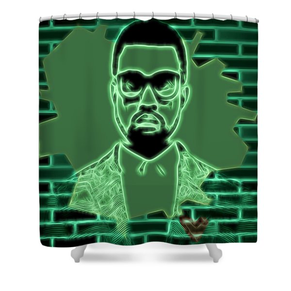 Electric Kanye West Graphic Shower Curtain