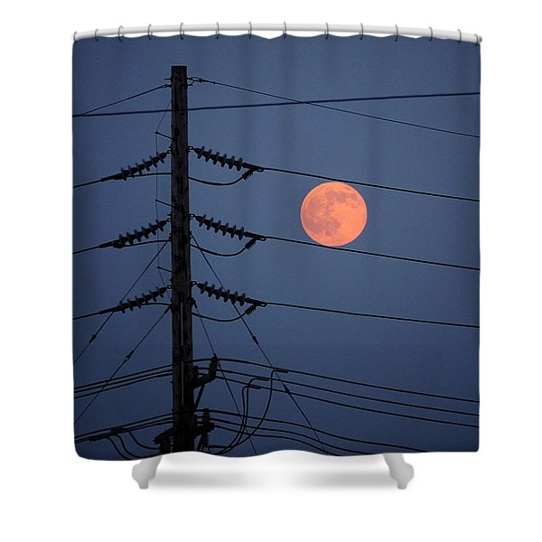 Electric Moon Shower Curtain