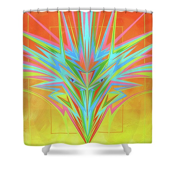 Electric Personality  Shower Curtain