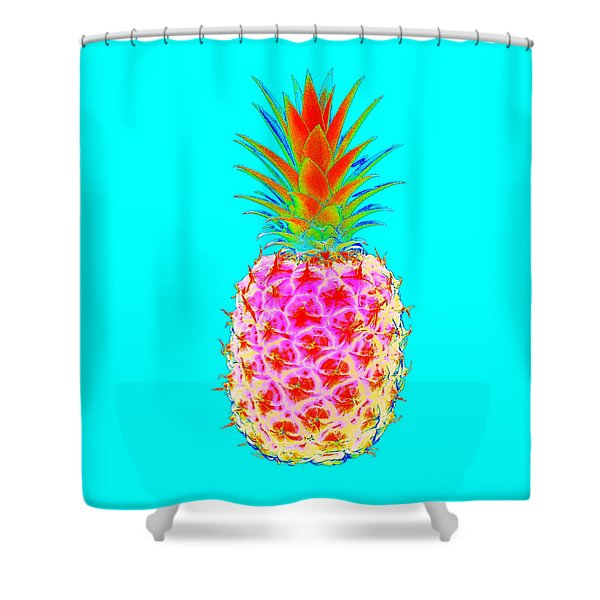 Electric Pineapple Shower Curtain