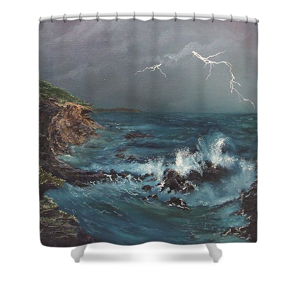 Electric Sky Shower Curtain