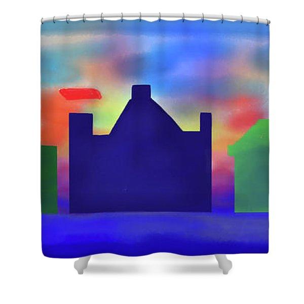 Electric Sunrise Shower Curtain