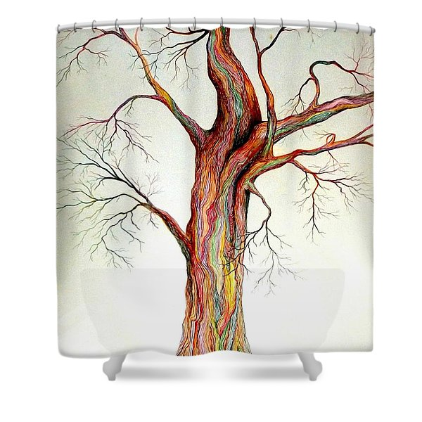 Electric Tree Shower Curtain