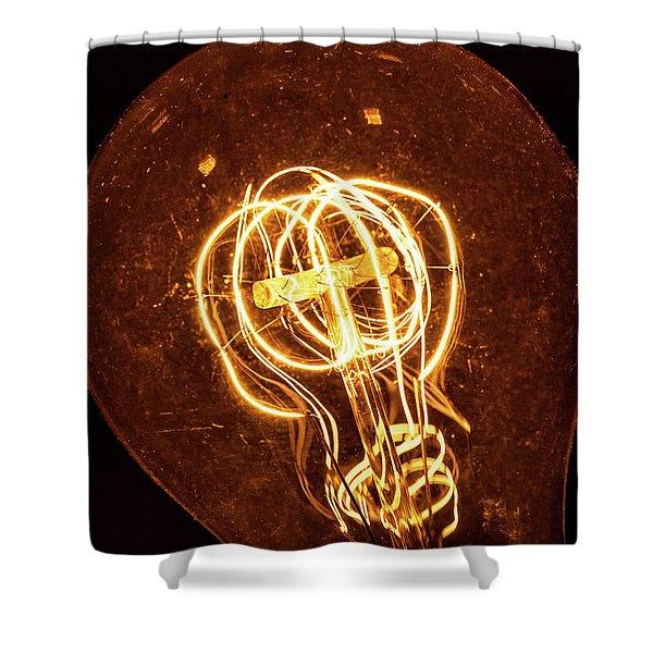 Electricity Through Tungsten Shower Curtain