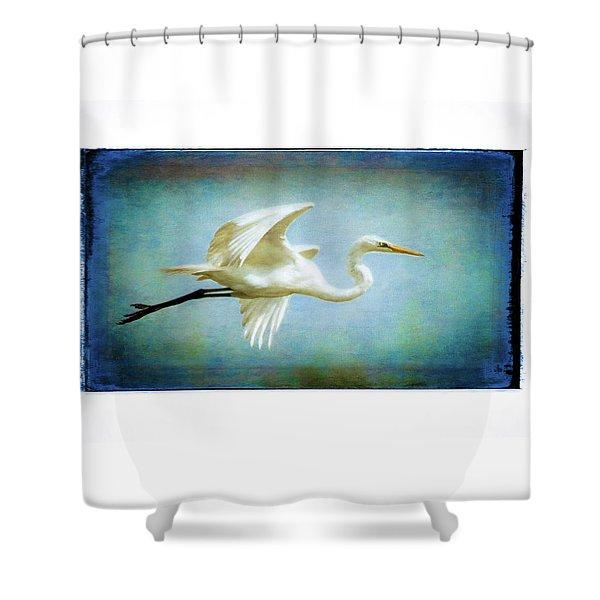 Elegant Egret Shower Curtain