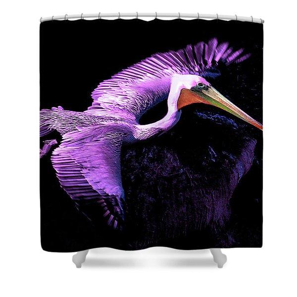 Elegant Flight In Violet Shower Curtain