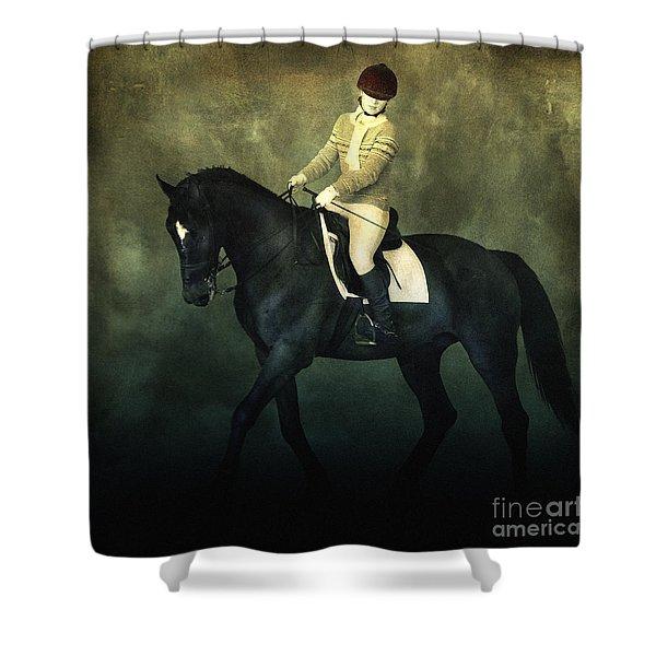 Elegant Horse Rider Shower Curtain
