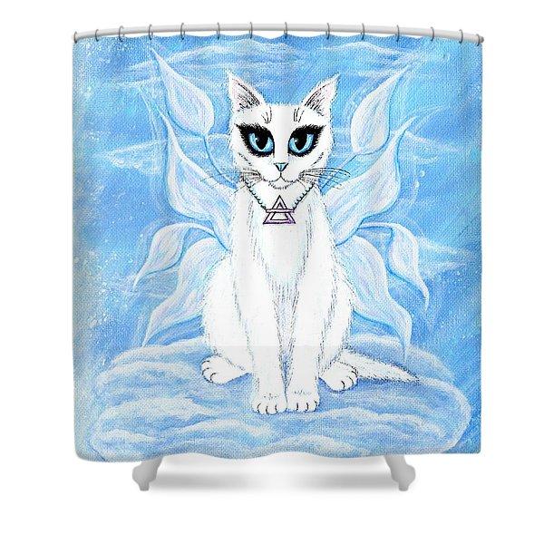 Elemental Air Fairy Cat Shower Curtain