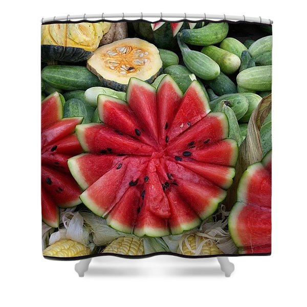 Shower Curtain featuring the photograph Elephant Buffet #whatiloveaboutthailand by Mr Photojimsf
